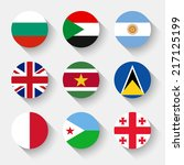 flags of the world  set 08 with ... | Shutterstock .eps vector #217125199