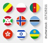 flags of the world  set 12 with ... | Shutterstock .eps vector #217125211