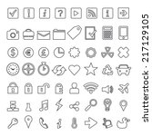 icon set element. minimalist. | Shutterstock .eps vector #217129105