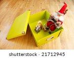 green box from a cardboard | Shutterstock . vector #21712945