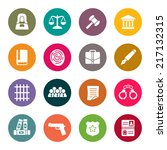 law icon set   Shutterstock .eps vector #217132315