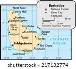 barbados country map | Shutterstock .eps vector #217132774