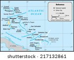 bahamas country map | Shutterstock .eps vector #217132861