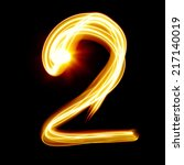 Two   Created By Light Numeral...