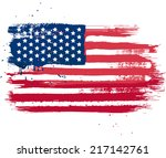 vector isolated usa flag in... | Shutterstock .eps vector #217142761