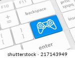 computer keyboard with  icon... | Shutterstock . vector #217143949