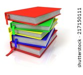 colorful stack of books  with... | Shutterstock . vector #217150111