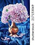 Pink Hydrangea Flowers In A...