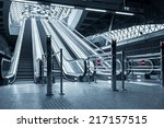 Moving Escalator In The...