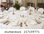 served banquet table | Shutterstock . vector #217159771