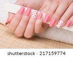 manicure   beauty treatment... | Shutterstock . vector #217159774