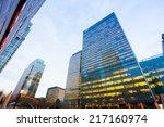 windows of skyscraper business... | Shutterstock . vector #217160974