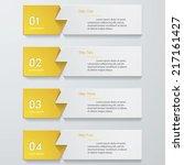 design clean number banners...   Shutterstock .eps vector #217161427