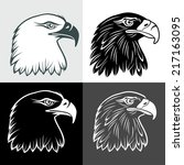 eagle head in signs and labels | Shutterstock .eps vector #217163095