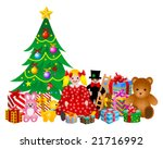 christmas toys and gifts | Shutterstock .eps vector #21716992
