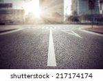 empty street  city in china.   Shutterstock . vector #217174174