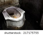 Dirty Squat Type Toilet