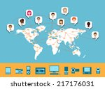 worldwide connectivity  ... | Shutterstock .eps vector #217176031