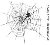 vector black widow spider on... | Shutterstock .eps vector #217178917
