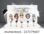 woman posing fashion in... | Shutterstock .eps vector #217179607