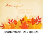 abstract autumn background with ... | Shutterstock .eps vector #217181821