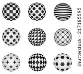 Black And White 3d Patterned...