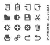 toolbar icon set  vector eps10. | Shutterstock .eps vector #217193665