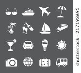 travel and tourism icon set ... | Shutterstock .eps vector #217193695