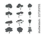 tree icon set  vector eps10. | Shutterstock .eps vector #217193701