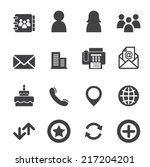 contact icons | Shutterstock .eps vector #217204201