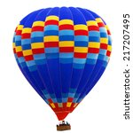 hot air striped balloon... | Shutterstock . vector #217207495