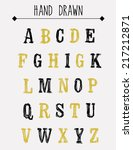 hand drawn sketch alphabet. | Shutterstock .eps vector #217212871