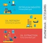 oil power concept flat icons... | Shutterstock .eps vector #217216081
