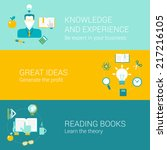 knowledge experience education... | Shutterstock .eps vector #217216105