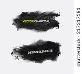 charcoal texture grunge banners.... | Shutterstock .eps vector #217217581