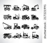 heavy duty machines  heavy... | Shutterstock .eps vector #217221991