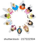 kids looking up | Shutterstock . vector #217222504