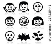 halloween characters   dracula  ...   Shutterstock .eps vector #217225441