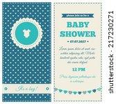 Baby Shower Invitation. Blue ...