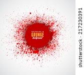 grunge splash vector template...   Shutterstock .eps vector #217230391