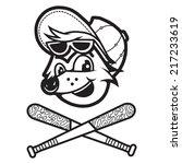 a fox cartoon head with... | Shutterstock .eps vector #217233619