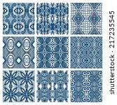 set of different seamless... | Shutterstock .eps vector #217235545
