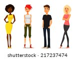 colorful illustration of cute...   Shutterstock . vector #217237474