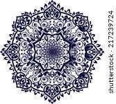 mandala. round ornament pattern ... | Shutterstock .eps vector #217239724