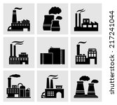 factory icons | Shutterstock .eps vector #217241044