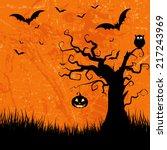 grunge style halloween... | Shutterstock .eps vector #217243969