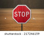 stop sign | Shutterstock . vector #217246159