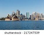 sydney skyline across the... | Shutterstock . vector #217247539
