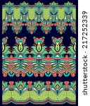 seamless ethnic floral paisley...   Shutterstock .eps vector #217252339