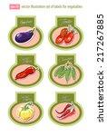 set of vector labels with... | Shutterstock .eps vector #217267885